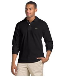 Lacoste | Longsleeve Pique Polo Black for Men | Lyst