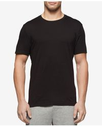 Tommy Hilfiger - Black Classic Crew Neck Undershirts 09tcr01 for Men - Lyst