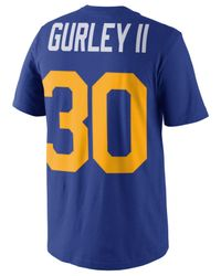 Nike Blue Men's Pride Name And Number T-shirt for men