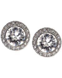 Givenchy | Metallic Earrings, Silver-tone Swarovski Element Stud Earrings | Lyst