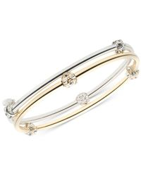 Nine West - Metallic 2-pc. Set Crystal Bangle Bracelets - Lyst