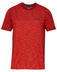Under Armour Red Vanish Seamless Short Sleeve T-shirt for men