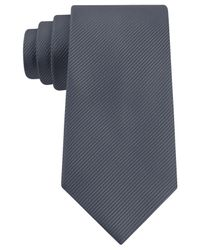Geoffrey Beene - Gray Bias Stripe Solid Tie for Men - Lyst