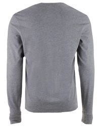 47 Brand Gray Men's Stacked Club Long Sleeve T-shirt for men