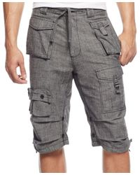 Sean John | Black Men's Classic Flight Cargo Shorts, Only At Macy's for Men | Lyst