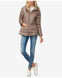 Bernardo - Brown Quilted Packable Puffer Coat - Lyst