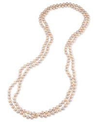 Carolee - Pink Imitation Pearl Extra Long Necklace - Lyst