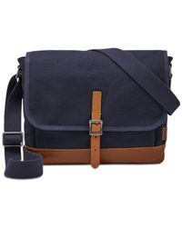 Fossil | Blue Men's Defender City Bag for Men | Lyst
