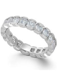 Macy's - Diamond Box Eternity Band In 14k White Gold (2 Ct. T.w.) - Lyst
