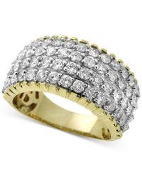 Macy's - Metallic Diamond Multi-row Ring (2 Ct. T.w.) In 14k Gold - Lyst