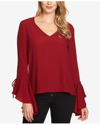 1.STATE | Red Cascade-sleeve Top | Lyst