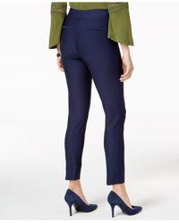Eci - Blue Pull-on Straight-leg Pants - Lyst