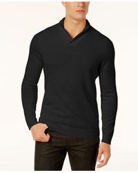 Alfani - Black Men's Textured Zip-front Cardigan for Men - Lyst