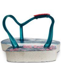 Havaianas - Blue Slim Paisage Flip-flop Sandals - Lyst