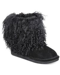 BEARPAW | Black Women's Boetis Ii Curly Lamb Boot | Lyst