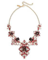 """INC International Concepts - Multicolor I.n.c. Gold-tone Stone & Lace Statement Necklace, 16"""" + 3"""" Extender, Created For Macy's - Lyst"""