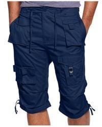 Sean John | Blue Men's Shorts Big And Tall, Classic Flight Cargo Shorts for Men | Lyst