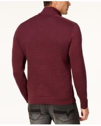 INC International Concepts - Red Men's Quarter-zip Sweater for Men - Lyst