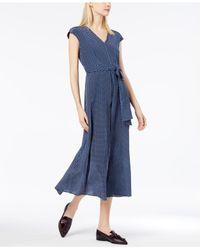 Weekend by Maxmara - Blue Silk Midi Dress - Lyst