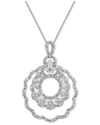 Macy's - Metallic Diamond Pendant Necklace (1-3/4 Ct. T.w.) In 14k White Gold - Lyst