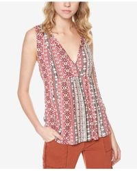 Sanctuary - Red Palmetto Printed Top - Lyst
