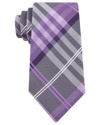 Geoffrey Beene - Purple Petros Plaid Ii Tie for Men - Lyst