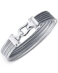 Charriol - Metallic Women's Silver-tone Cable Bangle Bracelet - Lyst