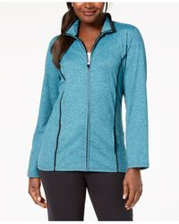 Karen Scott - Blue Zip-front Space-dye Jacket, Created For Macy's - Lyst
