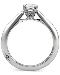 Marchesa - Certified Diamond Solitaire Engagement Ring In 18k White Gold (1/2 Ct. T.w.) - Lyst