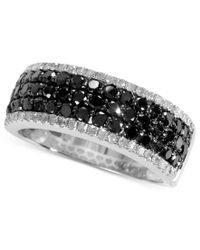 Effy Collection - Black (1 Ct. T.w.) And White Diamond (1/5 Ct. T.w.) Band In 14k White Gold - Lyst