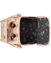 Betsey Johnson - Metallic Love Machine Mini Crossbody - Lyst