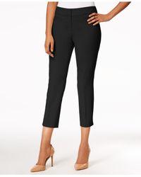 Nine West - Black Cropped Skinny Pants - Lyst