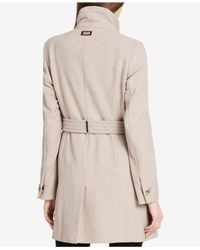 CALVIN KLEIN 205W39NYC - Natural Wool-blend Asymmetrical Walker Coat - Lyst