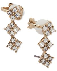 Ivanka Trump - Metallic Gold-tone Crystal Ear Climbers - Lyst