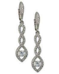 Giani Bernini - Metallic Cubic Zirconia Pavé Twist Drop Earrings In Sterling Silver - Lyst