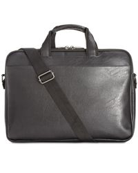 Kenneth Cole Reaction - Black Slim Briefcase for Men - Lyst