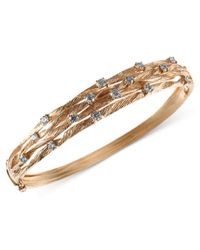 Effy Collection   Metallic Diamond Textured Bangle (1 Ct. T.w.) In 14k Gold   Lyst