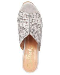 Callisto | Gray Lovie Embellished Wedge Sandals | Lyst