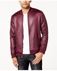 INC International Concepts - Purple Men's Basket-weave Bomber Jacket for Men - Lyst