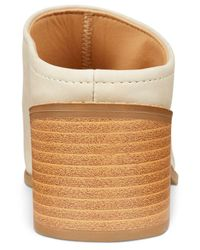 Esprit - Natural Lena Block-heel Slide Sandals - Lyst