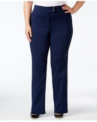 Style & Co. | Blue Plus Size Pants, Tummy-control Straight-leg Trousers | Lyst