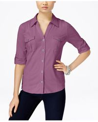 Style & Co.   Purple Utility Shirt, Only At Macy's   Lyst