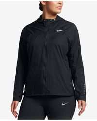 Nike - Black Plus Size Impossibly Light Running Jacket - Lyst
