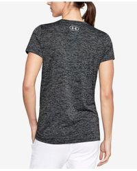 Under Armour - Black Ua Techtm Logo T-shirt - Lyst