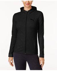 PUMA | Black Urban Sport Zip Drycell Hoodie | Lyst