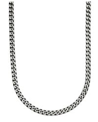 "Macy's - Multicolor Men's Black Ion Plated Stainless Steel Necklace, 24"" 6mm Link Chain for Men - Lyst"