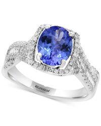 Effy Collection - Metallic Tanzanite (1-3/4 Ct. T.w.) & Diamond (3/8 Ct. T.w.) Ring In 14k White Gold - Lyst