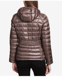 CALVIN KLEIN 205W39NYC - Brown Packable Down Puffer Coat - Lyst