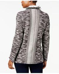 Style & Co. - Black Fringe-trim Cardigan - Lyst
