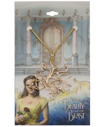 "Macy's | Metallic Beauty And The Beast ""tree Of Life"" Crystal Drop Cord Pendant Necklace In Gold-plated Brass 